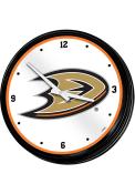 Anaheim Ducks Retro Lighted Wall Clock