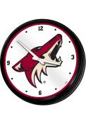 Arizona Coyotes Retro Lighted Wall Clock