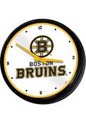 Boston Bruins Retro Lighted Wall Clock