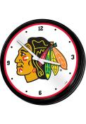 Chicago Blackhawks Retro Lighted Wall Clock