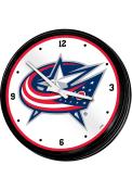 Columbus Blue Jackets Retro Lighted Wall Clock