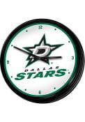 Dallas Stars Retro Lighted Wall Clock