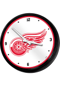 Detroit Red Wings Retro Lighted Wall Clock