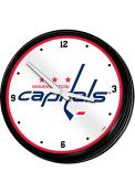 Washington Capitals Retro Lighted Wall Clock