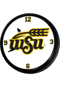 Wichita State Shockers University Seal Retro Lighted Wall Clock