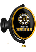 Boston Bruins Oval Rotating Lighted Sign