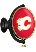 Calgary Flames Oval Rotating Lighted Sign