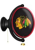 Chicago Blackhawks Oval Rotating Lighted Sign