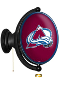 Colorado Avalanche Oval Rotating Lighted Sign