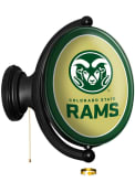 Colorado State Rams Oval Rotating Lighted Sign