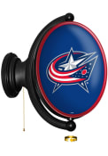 Columbus Blue Jackets Oval Rotating Lighted Sign
