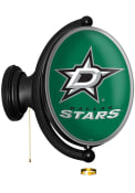 Dallas Stars Oval Rotating Lighted Sign