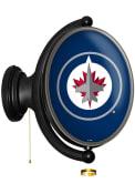 Winnipeg Jets Oval Rotating Lighted Sign