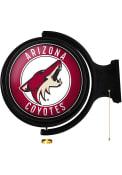 Arizona Coyotes Round Rotating Lighted Sign