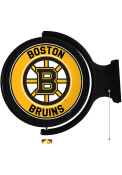 Boston Bruins Round Rotating Lighted Sign
