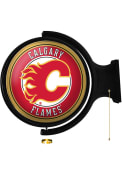 Calgary Flames Round Rotating Lighted Sign