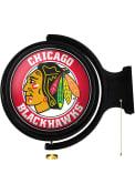Chicago Blackhawks Round Rotating Lighted Sign