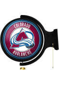 Colorado Avalanche Round Rotating Lighted Sign