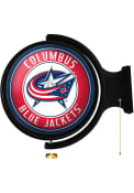 Columbus Blue Jackets Round Rotating Lighted Sign