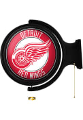 Detroit Red Wings Round Rotating Lighted Sign