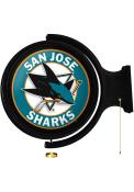 San Jose Sharks Round Rotating Lighted Sign