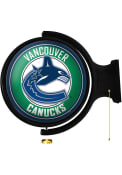 Vancouver Canucks Round Rotating Lighted Sign