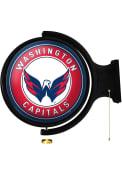 Washington Capitals Round Rotating Lighted Sign