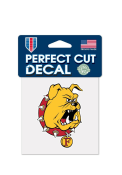Ferris State Bulldogs 4x4 Perfect-Cut Auto Decal - Yellow