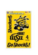 Wichita State Shockers 11x17 Multi Use Sheet Auto Decal - Yellow
