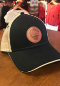 Cleveland Starry Scape Leather Patch Meshback Adjustable Hat - Black