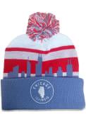 Chicago Light Blue Skyline Pom Knit Hat