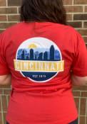 Cincinnati Scenic Circle Fashion T Shirt - Red