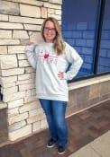 Dayton Flyers Womens Comfy Terry Crew Sweatshirt - Oatmeal
