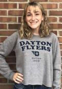 Dayton Flyers Womens Visalia Crew Sweatshirt - Grey