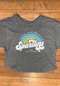 Michigan State Spartans Womens Sunrise Script T-Shirt - Grey