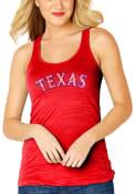 Texas Rangers Womens Sequin Jersey Tank Top - Red