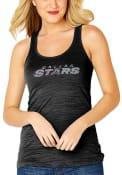 Dallas Stars Womens Black Sequin Jersey Tank Top