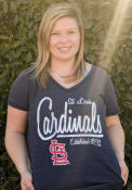 St Louis Cardinals Womens MultiCount Navy Blue Short Sleeve Plus Tee