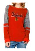 Chicago Blackhawks Womens Red Mix Fabric Women's Crew