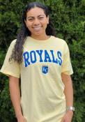 Kansas City Royals Womens Block T-Shirt - Yellow