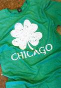Chicago Green Splatter Shamrock Short Sleeve T Shirt