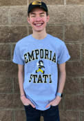 Emporia State Hornets Grey Arch Mascot Tee
