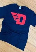 Dayton Flyers Navy Blue Big Logo Tee