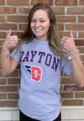 Dayton Flyers Grey Arch Logo Tee