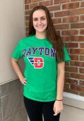 Dayton Flyers Green Arch Mascot Tee