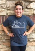 Dallas Navy Skyline Short Sleeve T Shirt