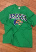 Drexel Dragons Green Distressed Big Logo Tee