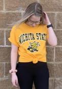 Wichita State Shockers Gold Mascot Tee Tee