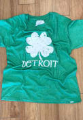 Detroit Youth Green Splatter Shamrock Short Sleeve T Shirt