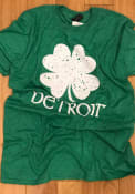 Detroit Green Splatter Shamrock Short Sleeve T Shirt
